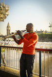 Street musician singer Royalty Free Stock Image