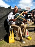 Street musician, south africa Royalty Free Stock Images