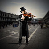 Street musician royalty free stock photography