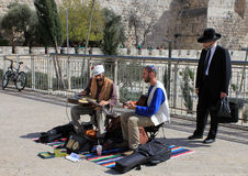 Street Musicians. In Old City jerusalem royalty free stock photo