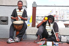 Street musicians. Playing in Cape Town stock photos