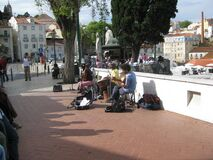 Street musicians Stock Image