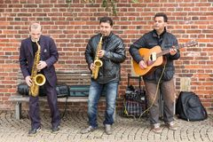Street musicians in Bremen city Stock Photos