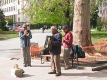 Street musicians.  Bulgaria. The Street musicians. Sofia, Bulgaria Royalty Free Stock Photography