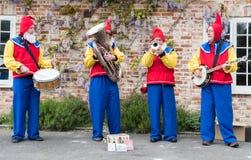 Street musicians at Downton Cuckoo Fair Royalty Free Stock Images