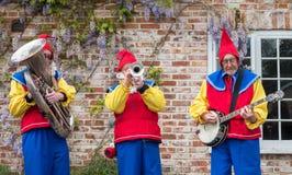 Street musicians at Downton Cuckoo Fair Stock Images