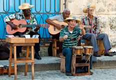 Street musicians in Havana Stock Photo
