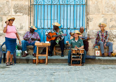 Street musicians in Havana Royalty Free Stock Photo