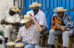 Street musicians at Havana, Cuba Stock Photography