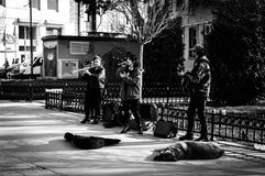 Street Musicians Of Istanbul City - Turkey stock photos