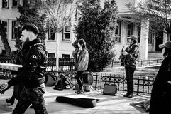 Street Musicians Of Istanbul City - Turkey royalty free stock photo