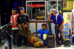 Street musicians, Java, Indonesia Stock Photography