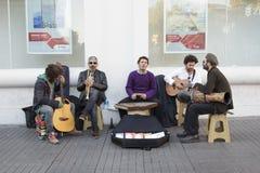 Street musicians making music in Istiklal street-Beyoglu,Istanbul Stock Images