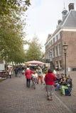 Street musicians on the market in Wijk bij Duurstede Royalty Free Stock Photo