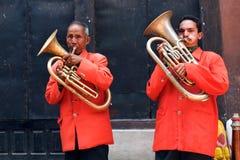Street musicians, Nepal Stock Photos