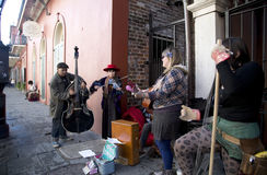 Street musicians in New Orleans. Some street musicians playing in French Quarter of  New Orleans, Louisiana USA Royalty Free Stock Photography