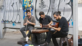 Street musicians Stock Images