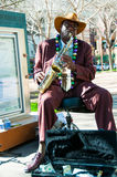 A street musicians in Phoenix stock photography