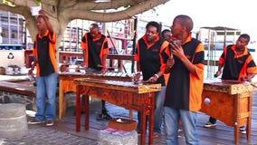 Street musicians stock video footage