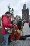Musicians in Prague Stock Photos