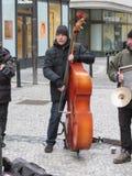 Street musicians in Prague Royalty Free Stock Photos