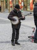 Street musicians in Prague Royalty Free Stock Photo