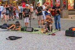Street musicians, Prague, Czech Republic Royalty Free Stock Image