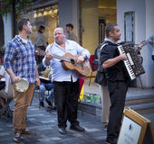 Street Musicians, St. Christopher's Place, London Stock Photography