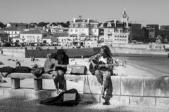 Street musicians royalty free stock photos