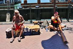 Street Musicians in Sydney Stock Image