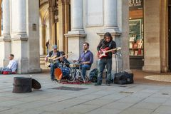 Street musicians in Trafalgar Square, London Stock Photography