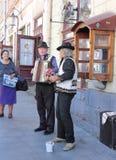 Street musicians. Ukrainian city of Lviv Stock Photo