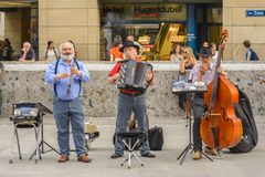 Street musicians Stock Image
