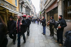 Street musicians in Venice Stock Photo