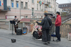 Street musicians. Royalty Free Stock Photography