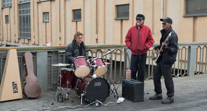 Street musicians. Royalty Free Stock Images