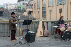 Street musicians. Stock Photography