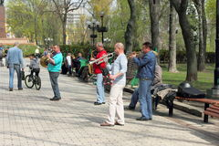 Street musicians Royalty Free Stock Photography