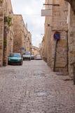 Street of Muslim quarter ear Herod's Gatel, Jerusalem Stock Image