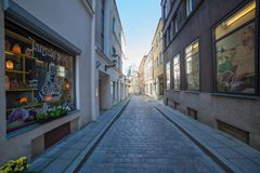 Street Muurivahe in Tallinn Stock Images