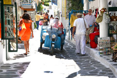 Street of Mykonos - Greece Stock Photo