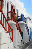 Street at Mykonos Stock Photography