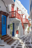 Street in Mykonos Royalty Free Stock Image