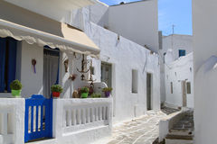 Street of Mykonos Stock Photography