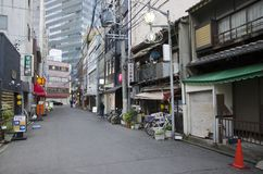 Street in Nagoya, Japan stock photos