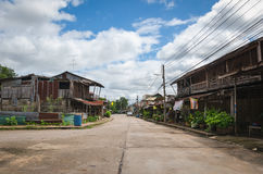 Street in Nam Tok village Stock Photos