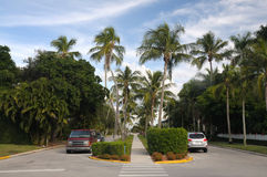Street in Naples, Florida Royalty Free Stock Photography