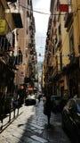 Street in Napoli, italy royalty free stock image