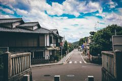 The street in nara, Japan stock images