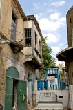Street near the border  in Nicosia, Cyprus. Royalty Free Stock Photos